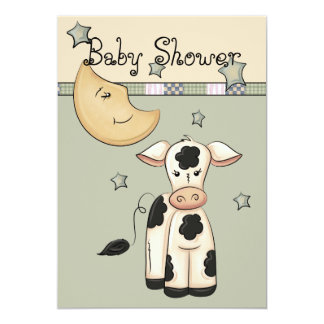 Cow Jumped Over the Moon Baby Shower Invitations
