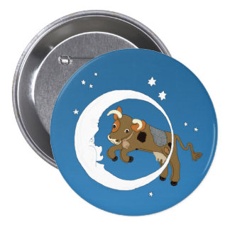 Cow Jumped Over the Moon Pinback Button