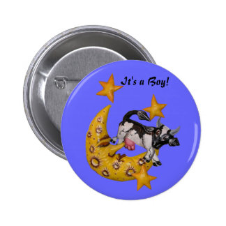 Cow Jumped Over the Moon button boy