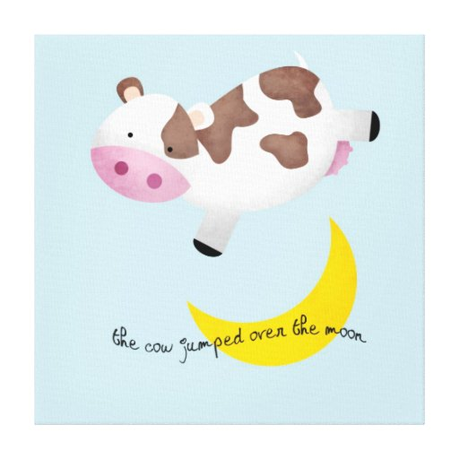 Cow Jumped Over the Moon Canvas Prints