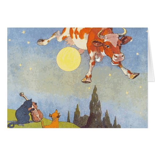 Cow Jumped over the Moon Greeting Cards