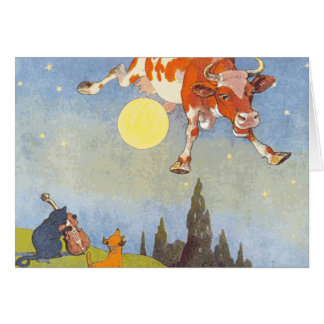 Cow Jumped over the Moon Greeting Card