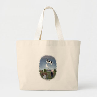 COW JUMPED OVER THE MOON JUMBO TOTE BAG