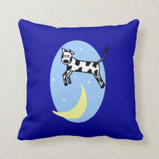 Cow Jumped Over the Moon Nursery Pillow for Boy Throw Cushion