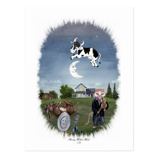 COW JUMPED OVER THE MOON POST CARDS