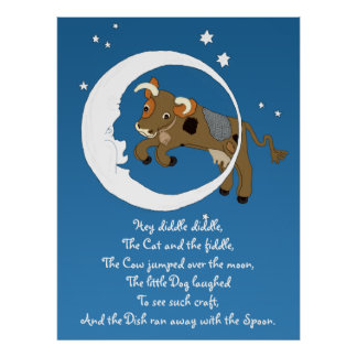 cow jumped over the moon posters cow jumped over the moon