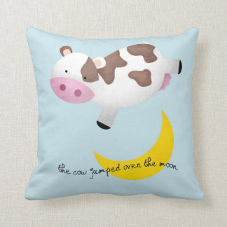 Cow Jumped Over the Moon Throw Cushions