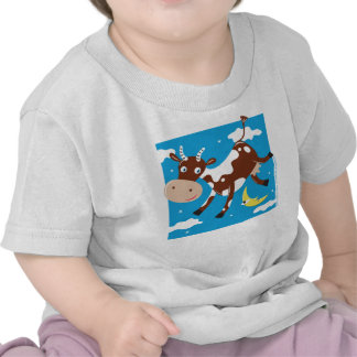 """Cow Jumped Over the Moon"" T Shirt"