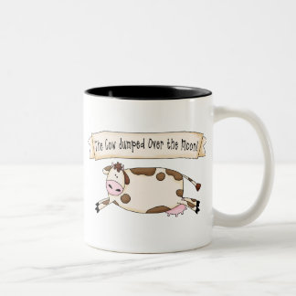 Cow Jumped Over the Moon Two-Tone Coffee Mug
