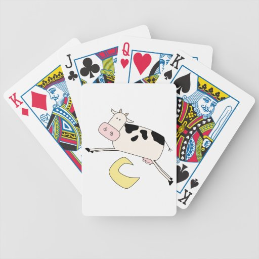 Cow Jumps Over Moon Poker Deck