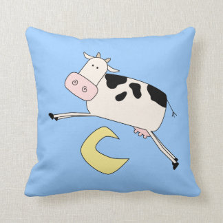 Cow Jumps Over Moon Throw Cushions