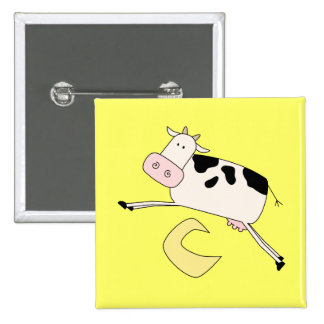 Cow Jumps Over Moon Tshirts and Gifts Pinback Button