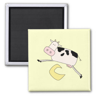 Cow Jumps Over Moon Tshirts and Gifts Fridge Magnet