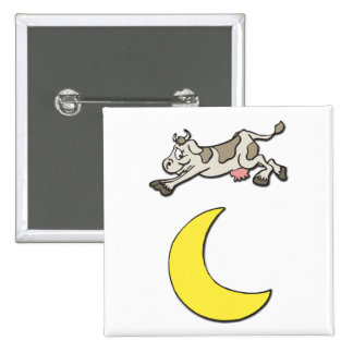 Cow Jumps Over the Moon Pinback Buttons