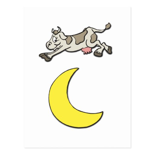 Cow Jumps Over the Moon Postcard