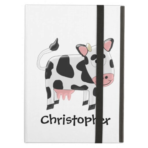 Cow Just Add Name iPad Case