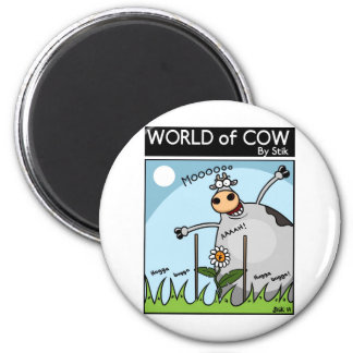 Cow Kong 6 Cm Round Magnet