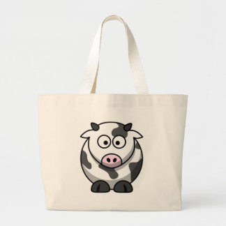 cow large tote bag