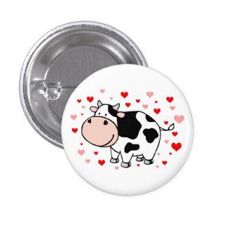 Cow Love 3 Cm Round Badge