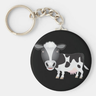 Cow Lover Key Ring