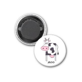 Cow 3 Cm Round Magnet