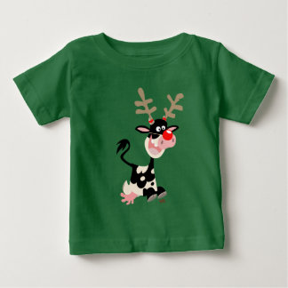 Cow Masquerading as Reindeer Baby T-shirt