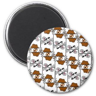 Cow Matrix 6 Cm Round Magnet