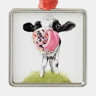 Cow Metal Ornament