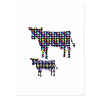 COW milk animal domestic dot navinJOSHI NVN91 FUN Postcard