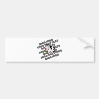Cow Moo Bumper Sticker