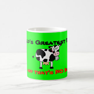 Cow-Mug World Greatest Dad NO BULL white wash Coffee Mug