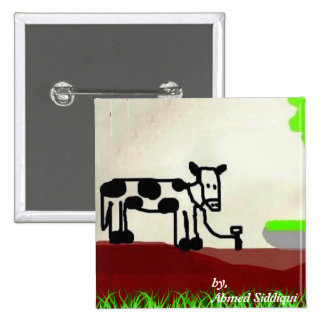 Cow painting Button