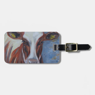 Cow Painting, Cow Decor, Cow Art, Dairy Cow Luggage Tag
