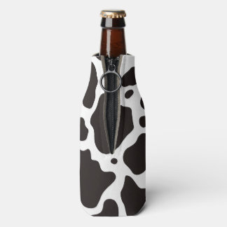 Cow pattern background bottle cooler