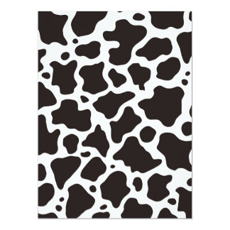 Cow pattern background card