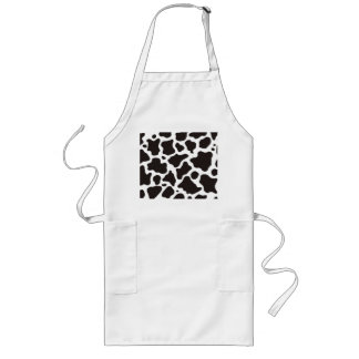 Cow pattern background long apron