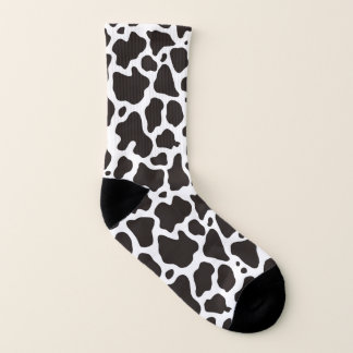 Cow pattern background socks