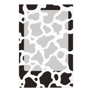 Cow pattern background stationery