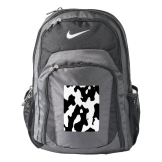 Cow Pattern Black and White Backpack