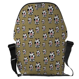 Cow Pattern Commuter Bags