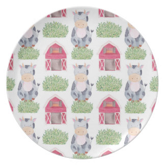Cow Pattern Plate