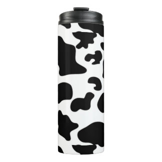 Cow Pattern Thermal Tumbler