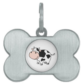 Cow Pet Name Tag