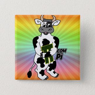 COW Pi 3.14  CELEBRATE Pi DAY 15 Cm Square Badge