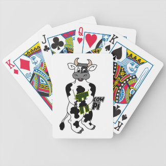 COW Pi 3.14  CELEBRATE Pi DAY Bicycle Playing Cards