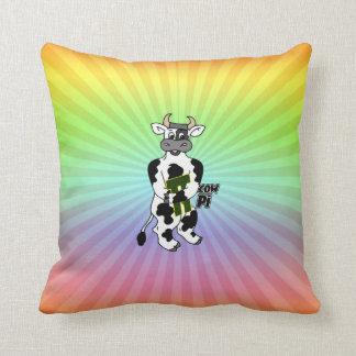 COW Pi 3.14  CELEBRATE Pi DAY Cushion