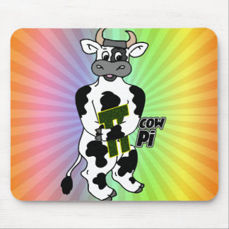 COW Pi 3.14  CELEBRATE Pi DAY Mouse Pad