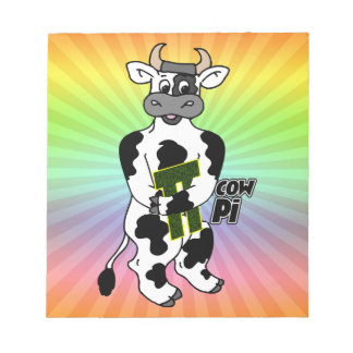 COW Pi 3.14  CELEBRATE Pi DAY Notepad