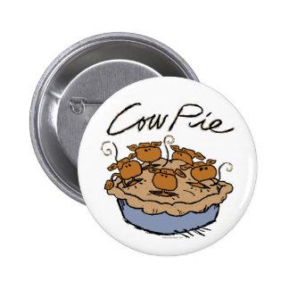 Cow Pie Round Button