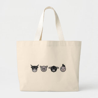 cow pig sheep chicken tote bags